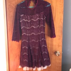 Maroon dress from Francesa's! Worn at one wedding.